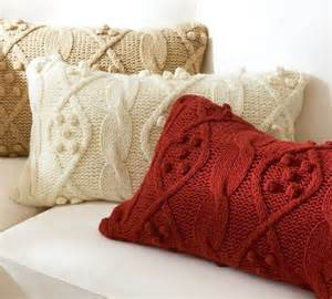 bobble knit lumbar pillow cover traditional decorative