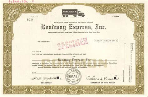 seda company roadway express gt akron ohio trucking company stock