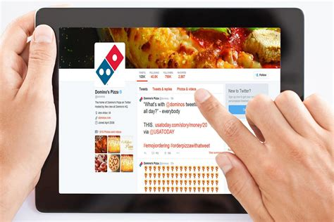 domino pizza twitter soon you ll be able to order a pizza by tweeting emoji at