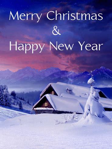 snow mountain merry christmas card birthday greeting cards  davia