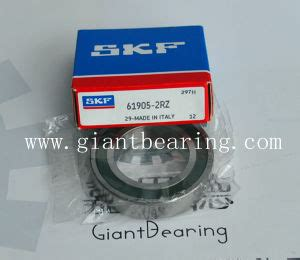 Bearing 61905 C3 Skf china sealed axial groove bearing skf 61905 2rz