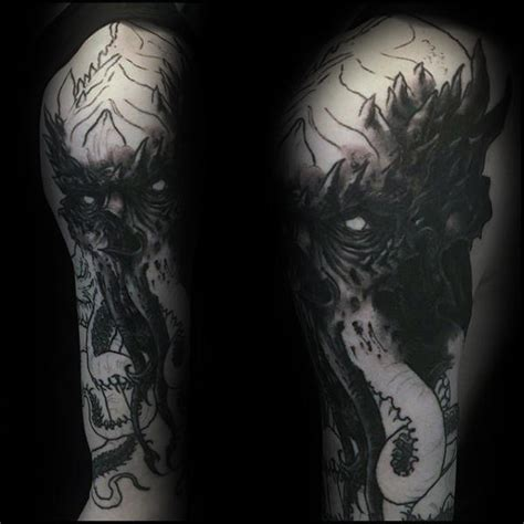 dark image tattoo designs 70 cthulhu designs for masculine ink ideas