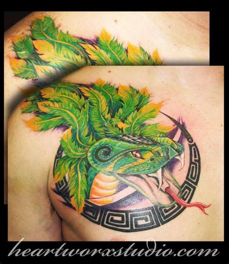 quetzalcoatl tattoo on chest 17 best images about mayan aztec tattoos on pinterest