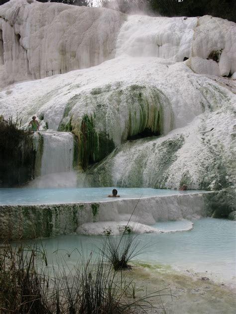 fosso bianco bagni san filippo tuscany tuscan springs fosso bianco in bagni san