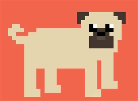 pixel pug pixel pug the by shinypug on deviantart
