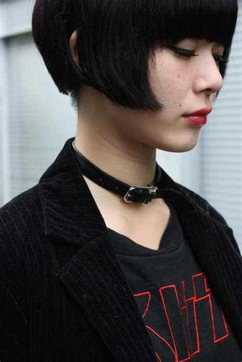 old goth bangs hairstyle 111 best very short bobs images on pinterest