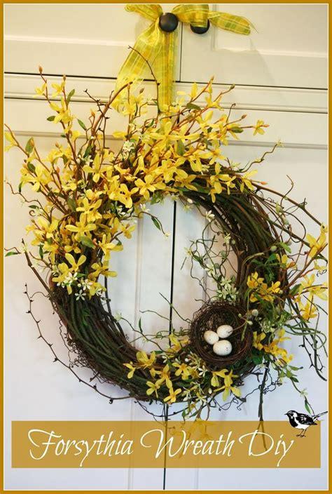 Forsythia Wreath Tutorial Forsythia Wreath Wreaths And Easy | forsythia wreath tutorial tutorials wreaths and wreath