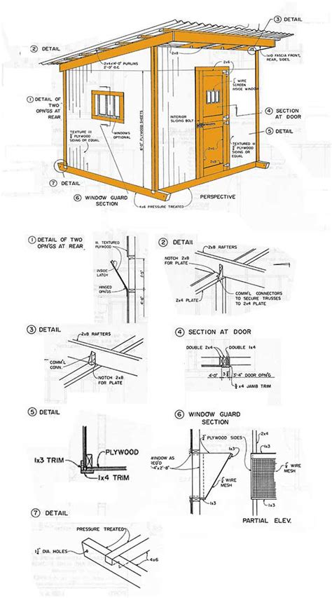shed 8 x 6 tongue and groove lean to storage shed