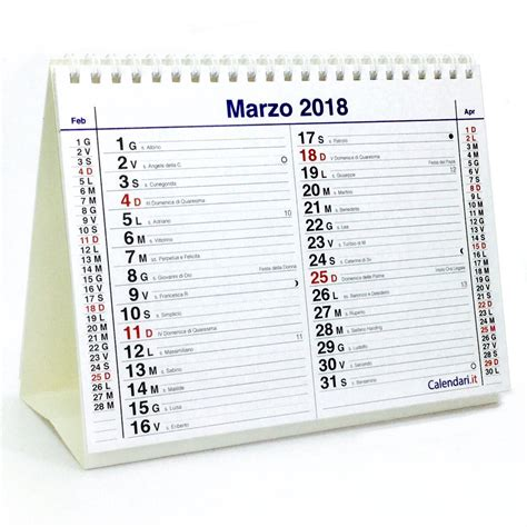 calendario da scrivania calendario 2018 tavolo e lune 20x15 cm calendari it