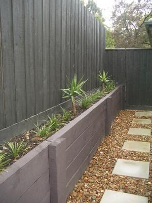 painted fence treated pine retaining wall kate ashton