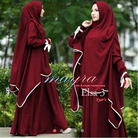 Gamis Syar I Murah Maliha Maroon Modis Terbaru 1 gamis syari murah jual baju muslim syari terbaru