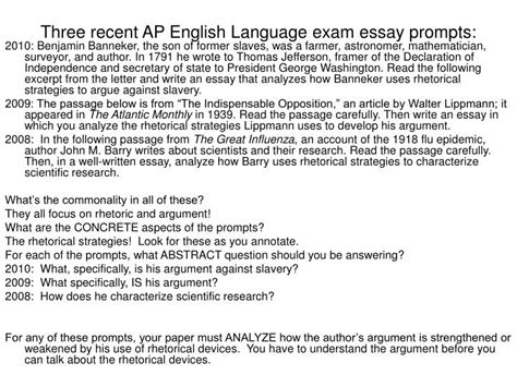 Ap Lang Essay Prompts 2012 by Ppt Three Recent Ap Language Essay Prompts Powerpoint Presentation Id 4527391