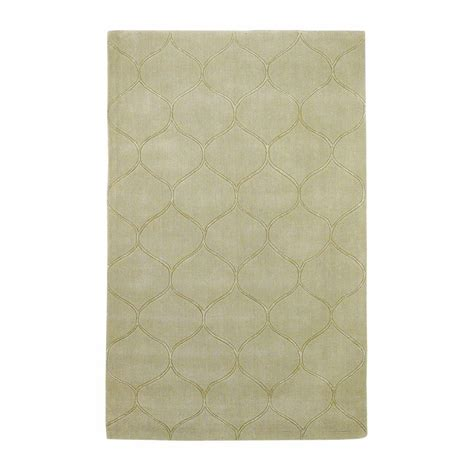 Kas Rugs Simple Scallop Celadon 8 Ft X 10 Ft Area Rug Simple Area Rugs