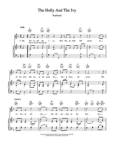 pattern in the ivy lyrics the holly and the ivy sheet music by christmas carol