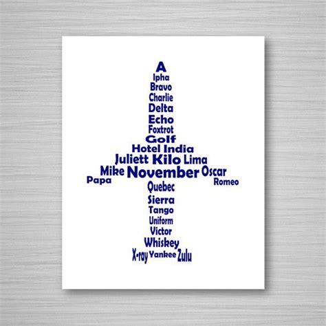 printable nato alphabet phonetic alphabet airplane printable art digital