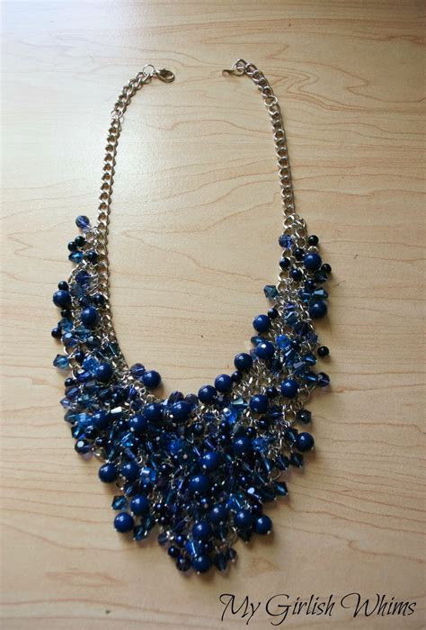 learn how to make jewelry diy bead cluster web necklace my girlish whims
