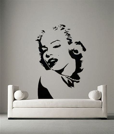 marilyn monroe vinyl marilyn monroe portrait vinyl wall art sticker decal