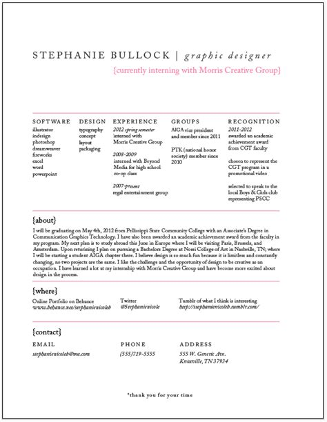 design student cv exles resume design process infographic on behance
