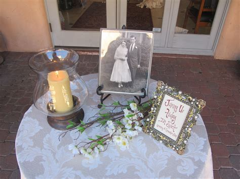 Memorial table at Aldea Weddings  classy but we will need