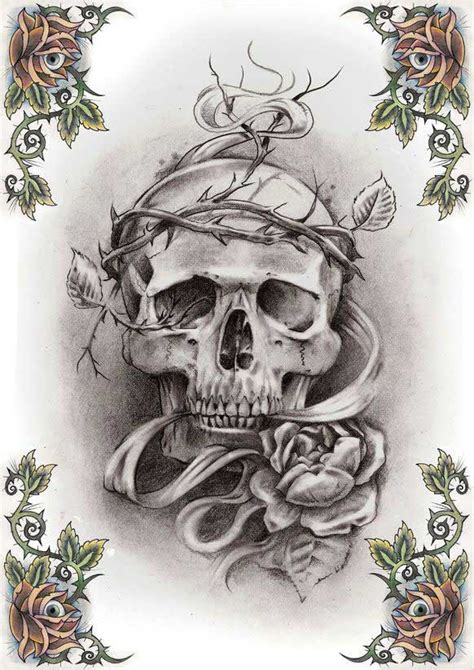 tattoo flash of skulls skull tattoo patterns free patterns