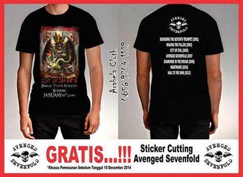 Tshirt Kaos Hail To The King avenged sevenfold tour 2015 home