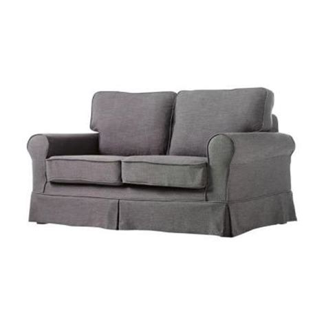linen loveseat slipcover home decorators collection sophia gray linen 60 in w