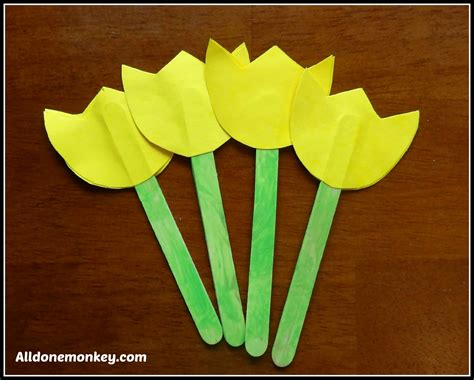 flower and craft for flower craft popsicle stick tulips naw ruz