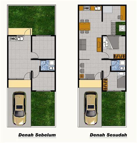 layout rumah type 36 60 denah rumah type 36 renovasi desain denah rumah terbaru