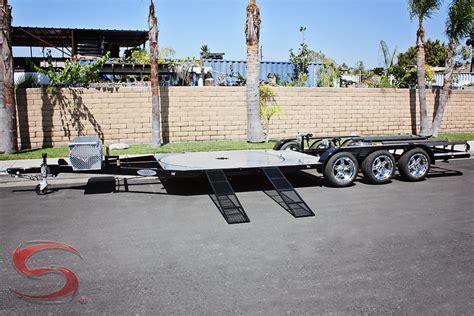 boat car combo trailer custom pwc utility combo trailers shadow trailers