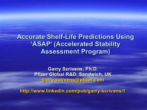 Shelf Accelerated Stability Testing by Stability Predictions By Asap