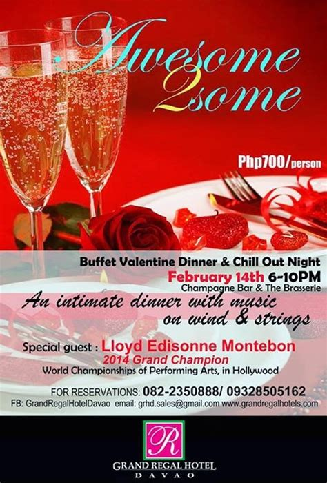valentines dinner and hotel valentines day 2015 davao promos