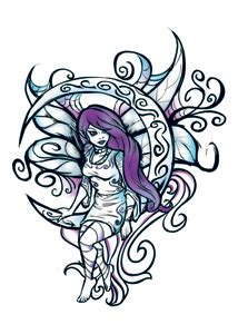 wicked midnight moon fairy temporary tattoo 50 wic 05004