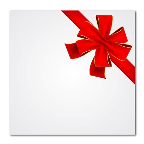 red gift ribbon free vector