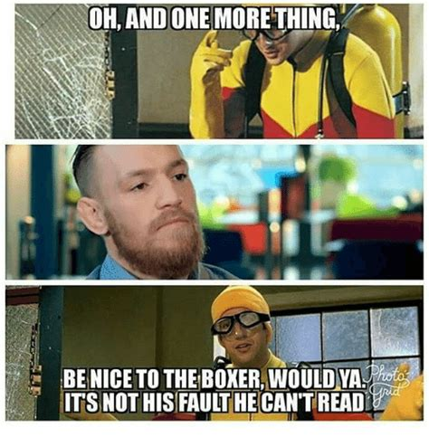 One More Thing Meme - 25 best memes about the boxer the boxer memes