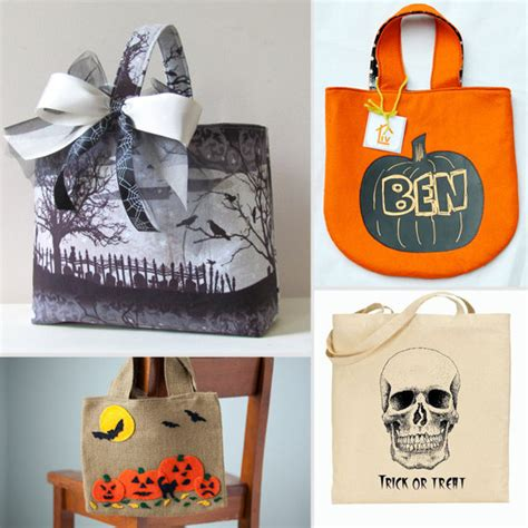 Handmade Treat Bags - handmade loot bags for trick or treating