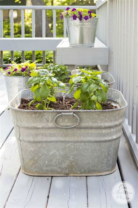 Galvanized Planters Lowes by 1239 Best Container Gardens Images On