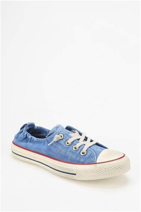 converse shoreline sneaker converse shoreline washed womens lowtop sneaker in blue lyst