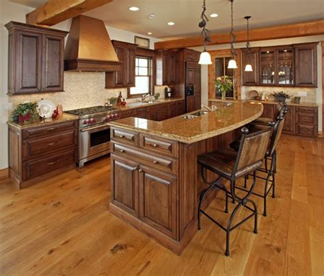 Kitchen Island Ideas With Bar Kitchen Islands With Raised Breakfast Bar Cabinets Steamboat Springs Kitchen Designer