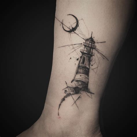 small lighthouse tattoo moon lighthouse best ideas gallery