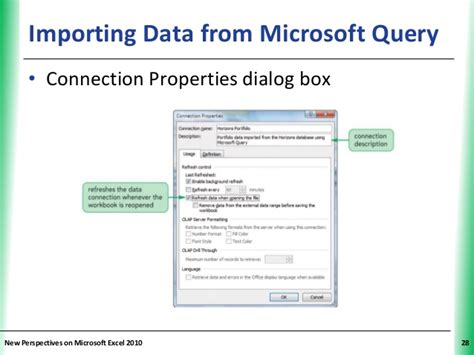 microsoft query tutorial excel 2010 tutorial 11 connecting to external data