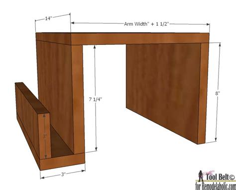 the arm sofa table remodelaholic diy sofa arm table