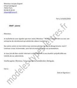 Exemple De Lettre Voisin Bruyant Lettre De Plainte Pour Nuisance Olfactive