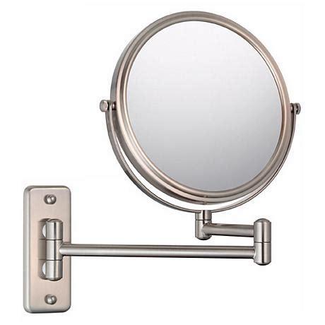 bathroom vanity mirrors brushed nickel aptations brushed nickel 5x magnification vanity mirror