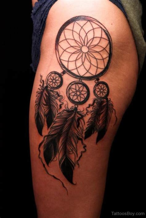 dream catcher thigh tattoo dreamcatcher tattoos designs pictures