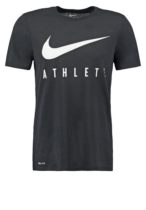 T Shirt Nike 20 cheap mens tops t shirts nike swoosh athlete sports shirt black black white s38d7152