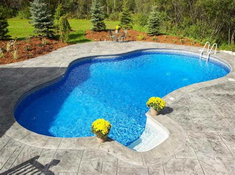 swimming pools in small backyards small inground swimming pools with regular design home interior exterior