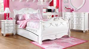 Child Bed Rails Disney Princess White 5 Pc Twin Sleigh Bedroom Girls