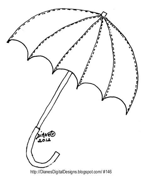 umbrella pattern to color umbrella template az coloring pages