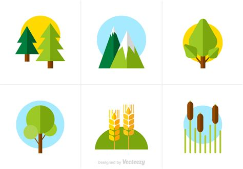 free design resources vector free flat nature vector icons download free vector art