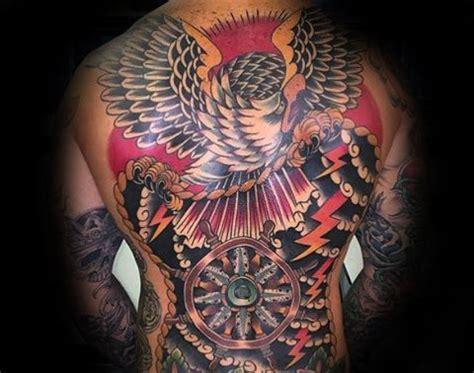 oriental eagle tattoo japanese eagle tattoo on back